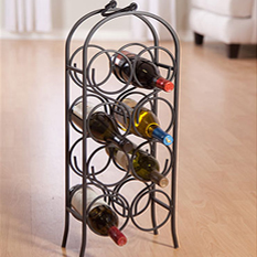 Designer Metal Wine Racks