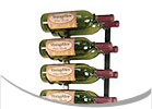 VintageView VintageView 4' Wall Mounted Wine Racks