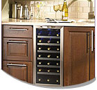 15-18 Inch Wide Built-in Wine Refrigerators